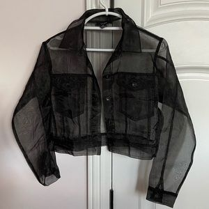 Cropped Organza jacket